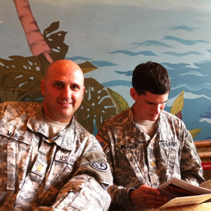 LTC March and MAJ Weaver, two of the smartest guys I know