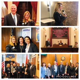 At CBBA Lobbying Day with fellow OC School Board Members visiting with our elected representatives in Sacramento, March 12, 2019.