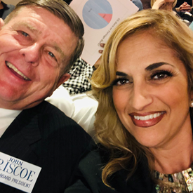 With OVSD board president John Briscoe at HBCC to advocate on behalf of our students and schools, April 1, 2019.