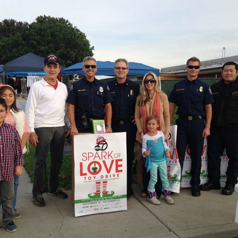Thanks to HBPD for coming to the Sparks of Love drive at Hope View.