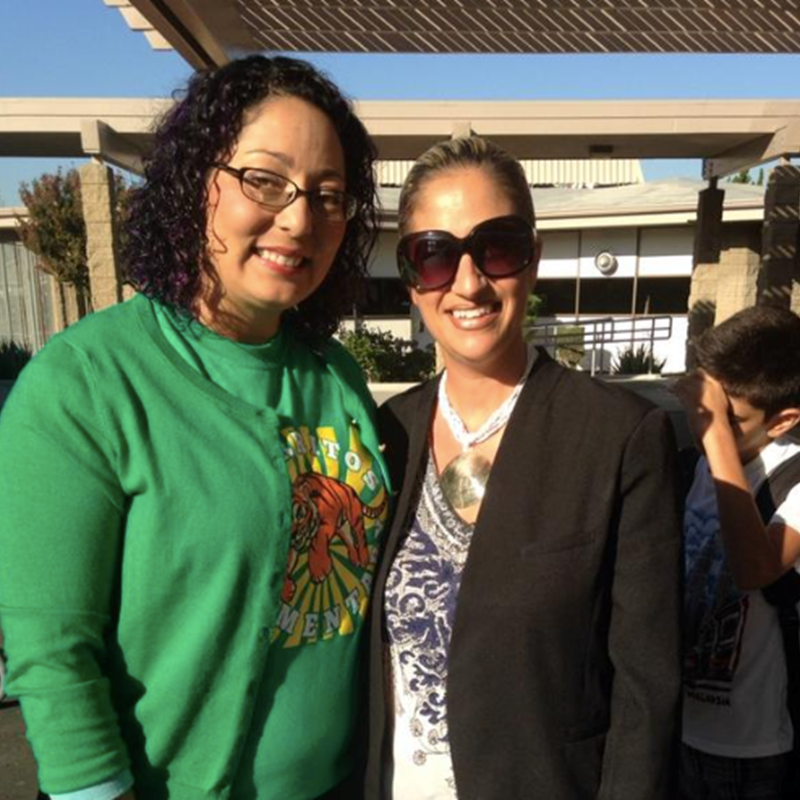 With Assembly member Christina Garcia in Cerritos, where I teach in the ABC Unified School District, 2015