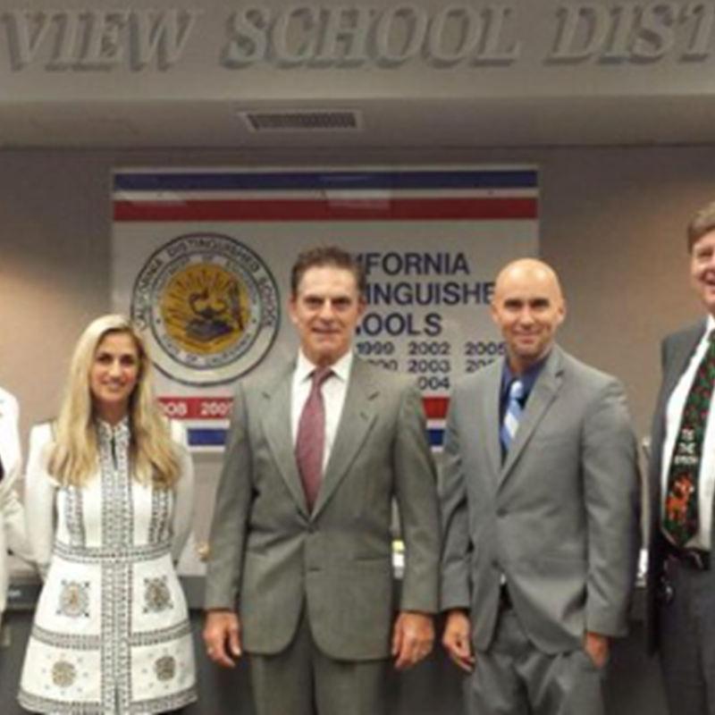 At the OVSD Board of Trustees annual reorganizational meeting, voted in as president for the first term, December, 2014