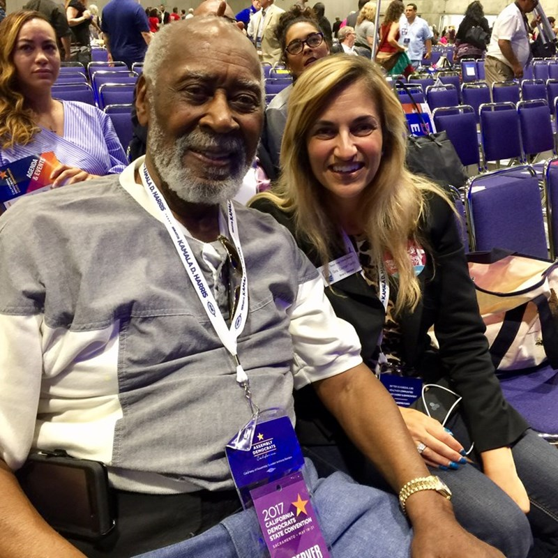 With the honorable Nate Holden, former state senator, LA City Councilman and current AQMD Hearing Board Officer at the 2017 CA Democratic Party Convention in Sacramento