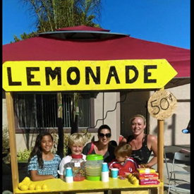 OVSD students and local entrepreneurs on Keelson Street set up their lemonade stand.