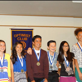 With the 2015 OVSD Oratorial Contest participants at at the Rancho Del Rey clubhouse, the contest was sponsored by the Surf City Optimist Club in conjunction with OVSD. Great speeches by our students!