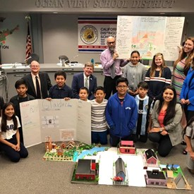 Oak View Students give presentation of the 14th colony, 2019