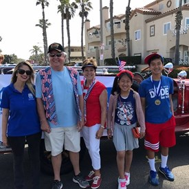 With Oratorical Contest winners at the HB Independence Day Parade 2017