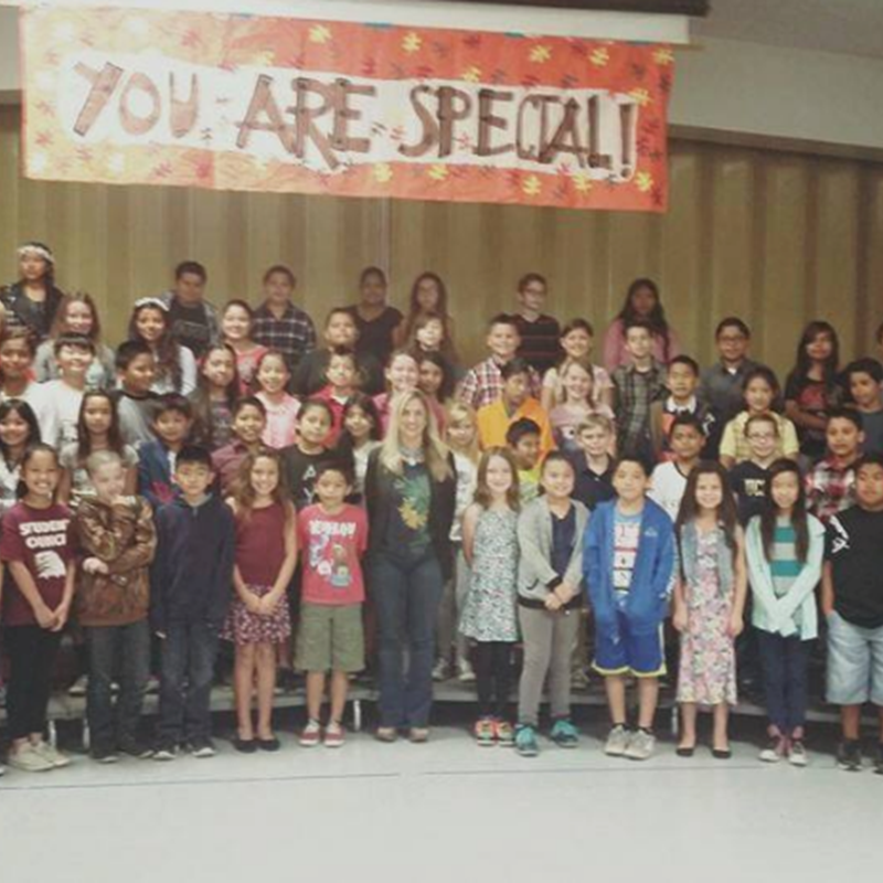 At Westmont/Lake View School for the You Are Special assembly. Great performance by the students!