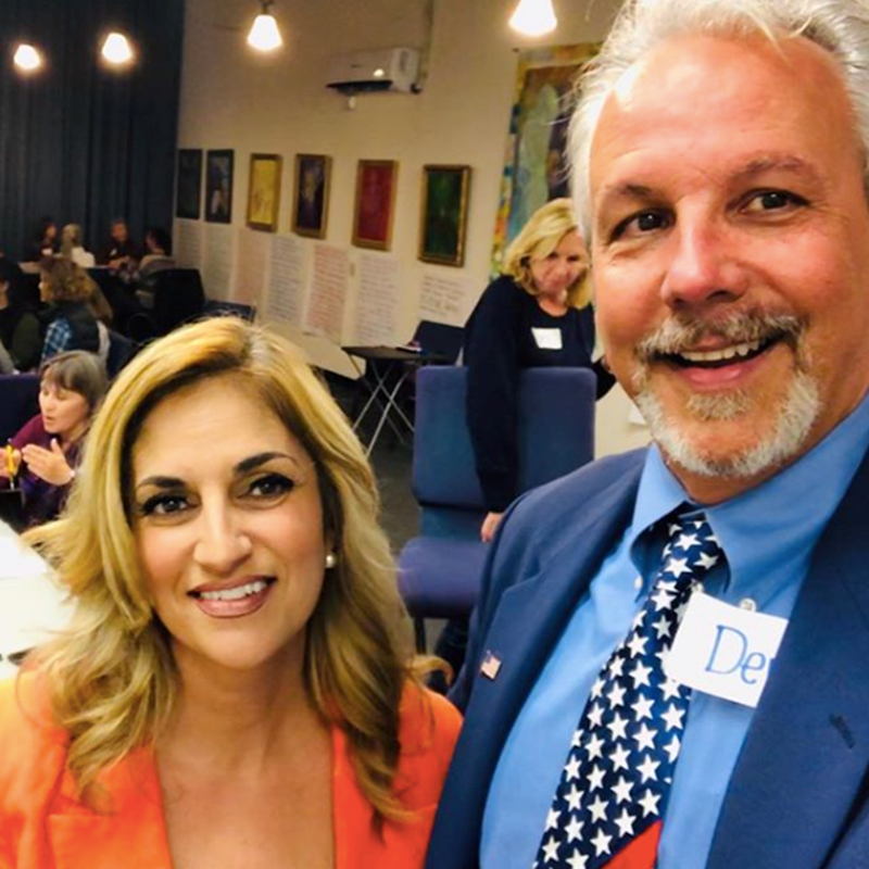With Dennis Bress, activist and patriot in Irvine, March 2019