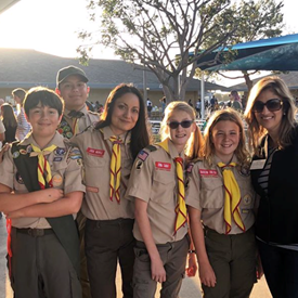 Mesa View Open House with Scouts, and leader Jodie Merkle, 2019