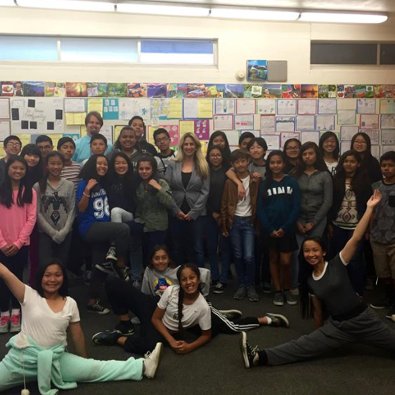 At Vista View visiting classrooms, stopped by to see teacher Marcy Drum and her amazing students and witness Restorative Justice for kids in action.