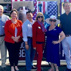 At 4th of July Parade with so many great folks incising Senator Umberg, Congressman Rouda, Congresswoman Porter, Shayna Lathus, Duke Nuygen, Ken Arnold, and others