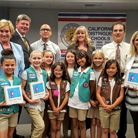 At the OVSD Board meeting the Westmont School Girl Scouts shared their very own book on water conservation they published. Great work girls!