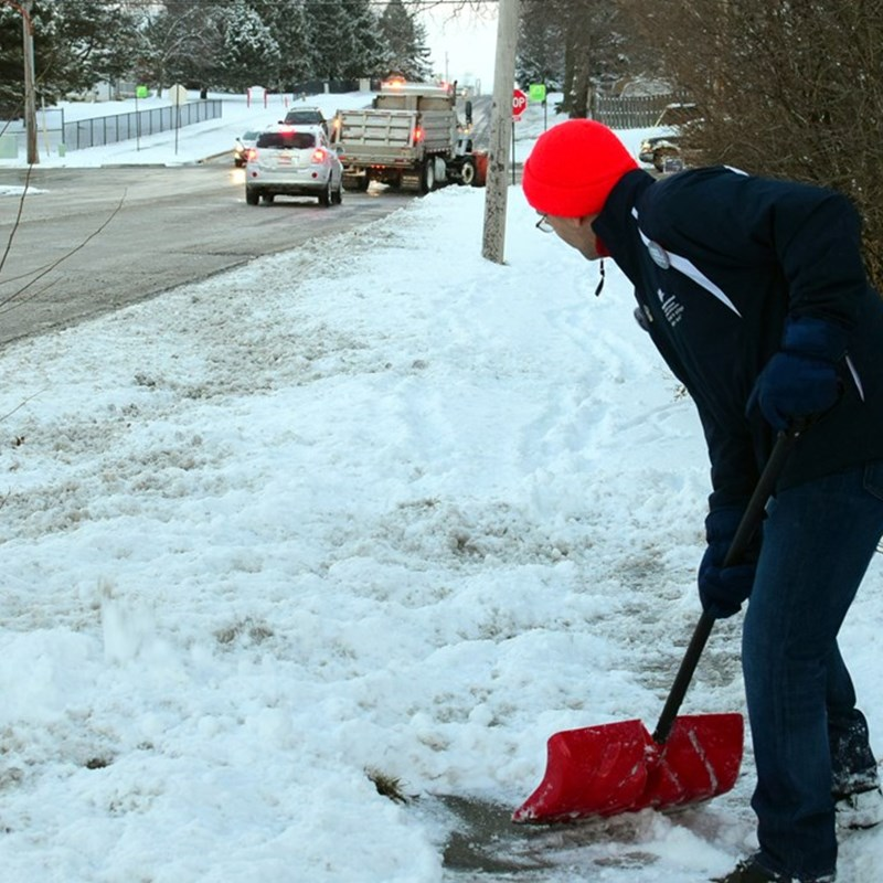 Marc doing his best to keep up with the great staff of the Town of Normal! Snow trucks were out in force today.
