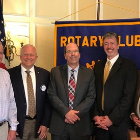 Carey Adams (Treasurer...to my right) and I gave a well-received educational presentation to the South Richmond Rotary!