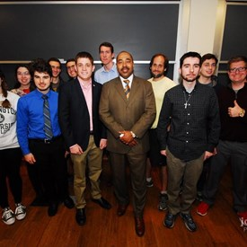 Andrew posing with the Wash U Republicans.