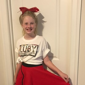 My Daughter getting ready for the Severna Park 4th of July 50's themed parade