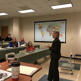 Rep. Deb speaks to a group of American Government students at UNCW