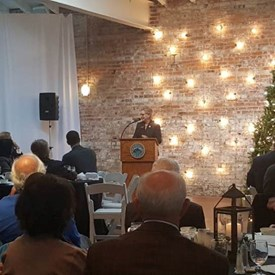 Speaking to the Metro Mayors in downtown Wilmington, NC