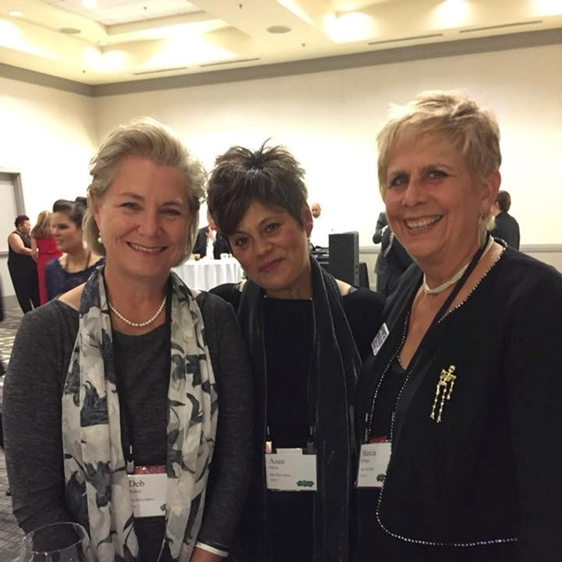 Rep. Deb with her spouse, Anni Parra (center) and NC District 19 candidate Marcia Morgan (right)