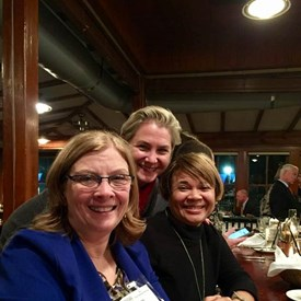 Raleigh Mayor Nancy McFarlane and Charlotte Mayor-elect Vi Lyles at the Metro Mayors event in Wilmington, NC