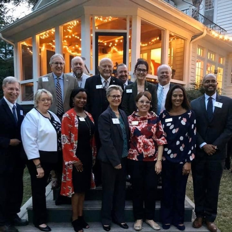 "Representative Deb Butler was the featured speaker at a ""Now or Never"" event in Raleigh, NC on 10/30/19. She is pictured here with electeds and candidates from around the state."