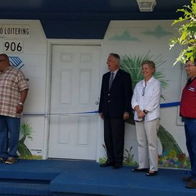 Ribbon cutting ceremony for the Wilmington, NC Boys and Girls Club with New Hanover County Commissioner Rob Zapple