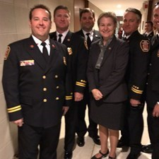New Hanover County Firefighters visit the General Assembly