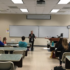 Rep. Deb sharing her experiences in the NCGA with a group of UNCW American Government students