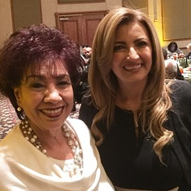 Gloria Carrillo and County Commissioner Elba Garcia. State of the City. March 9, 2017. Grand Prairie, TX Ruthe Jackson Center.
