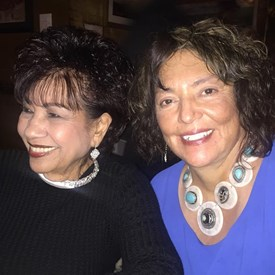 Gloria Carrillo and Rosemary Trujillo, Campaign Treasurer. New Year's Eve 2016.