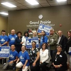 2016 Campaign for School Board. Gloria and Supporters.