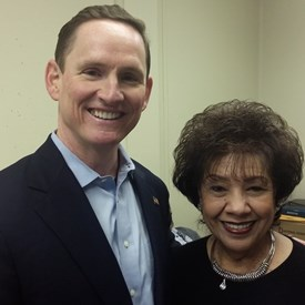 Gloria and Dallas County Judge,Clay Jenkins.