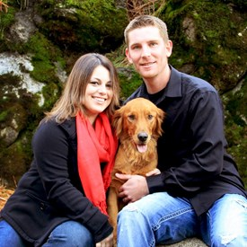 Brandi, Chad, and Lucy at Mirabeau Park
