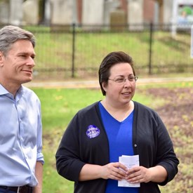 BTDC Chair Nancy D'Andrea with Tom Malinowski for CD-7.