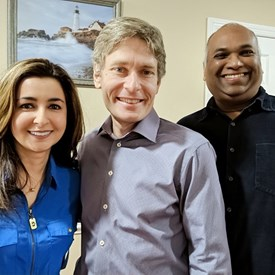 Sophia Chadda with Congressman Tom Malinowski and Goutham Puppala of the BRIC.
