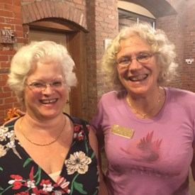 BTDC representative Susan Goldsmith with Somerset County Federation of Democratic Women President Margaret Weinberger.