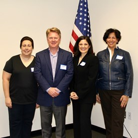 BTDC Executive Committee (Left to Right) Chair Nancy D'Andrea, Vice Chair Gregory Begg, Secretary Catherine Santaiti, and Treasurer Ana McCarthy