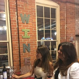 BTDC representatives Ana and Sima getting the first sip of the evening!