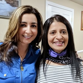 Sophia Chadda with friend and supporter Kruti Kapadia.