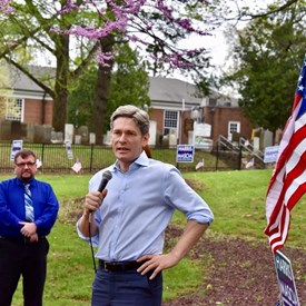 Tom Malinowski for Congress - CD7 addresses the crowd.