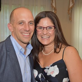 Honoree Catherine Santaiti with her number one fan and husband, Matt.