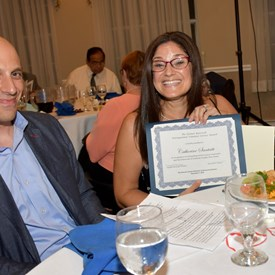 Catherine Santaiti was clearly thrilled to be honored by the SCFDW.