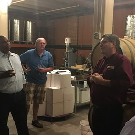 A tour of the wine making facility!