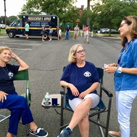 Sophia talked with Bernards Township EMS members. Great group of women tonight!