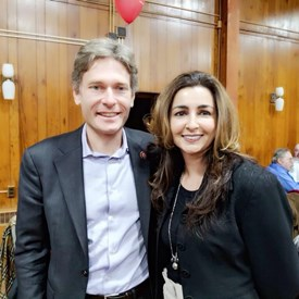 Sophia Chadda with Congressman Tom Malinowski at the Somerset County Democratic Convention where Chadda was announced as our endorsed candidate.