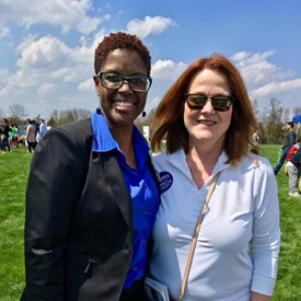Strong Democratic candidates! Joan B. Harris for Bernards Township Committee with Shanel Robinson for Somerset County Freeholder.