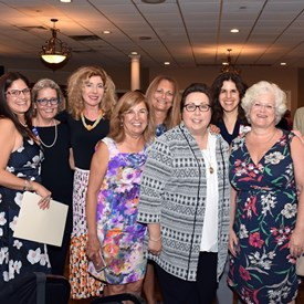 Bernards Township Democratic Women! Joan Bannan Harris, Catherine Santaiti, Ann Parsekian, Suzanne Glassman, Shona Veasey, Nancy Cook, Nancy D'Andrea, Laurie Saloman, Susan Goldsmith, Sally Booth, and Betsy Bacot Agner.