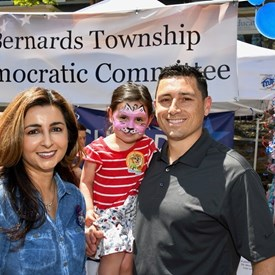 Sophia Chadda for Bernards Township with Bobby Mascia and her youngest supporter!