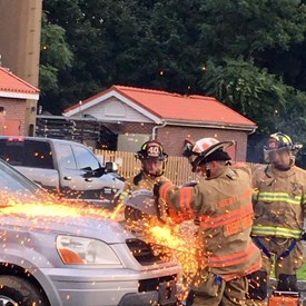 Liberty Corner Fire Company cutting through a car with ease. Very impressive demonstration!